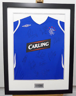 Rangers Football Shirt Signed by 10 Football Players at a Bargain Price