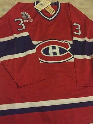 Patrick Roy#33 VINTAGE Montreal Canadiens ICE HOCKEY JERSEY AUTHENTIC MENS XL