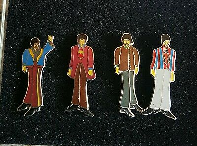 The Beatles set of 4 badges/pins