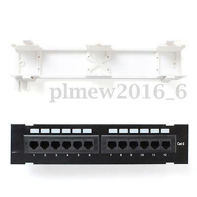 New Launched CAT6 Patch Panel 12 Ports Network Wall Mount Mounting Rack Bracket
