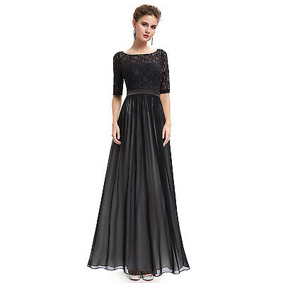Ever Pretty Black Lace Maxi Party Evening Formal Gowns Dresses 09991 AU Size 12
