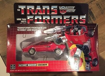 Transformers G1 Sideswipe 100% And Boxed
