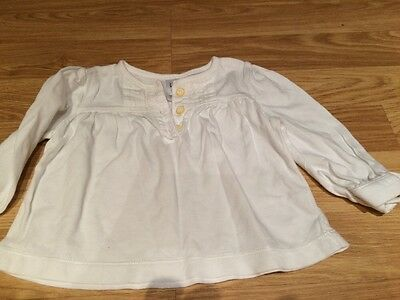 Baby Gap Top White 3-6 Months