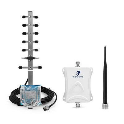 3G/4G 1700/2100MHz 70dB CellPhone Signal Booster Repeater Amplifier+Yagi Antenna