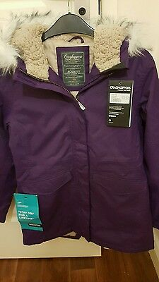 Girls Graghoppers purple coat - Age 13 years BNWT  Super dry