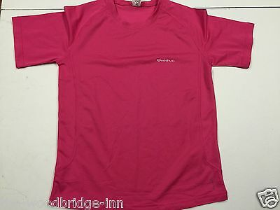 QUECHUA AGE 14 YEARS (159-172 cm) PINK GIRLS SHORT SLEEVE SPORT T-SHIRT 7Y