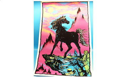 Original Black light Poster Black Stallion PP 446-1975 Velva Print 58 x 88 G208