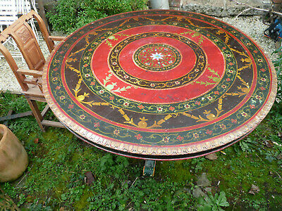 Ancienne table ronde indienne