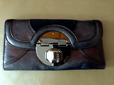 Mimco Stand off Genuine Leather Black Purse Wallet