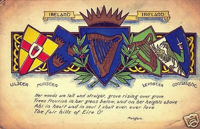 Irish Republican Four Provinces Old Style Eire Ireland Poster