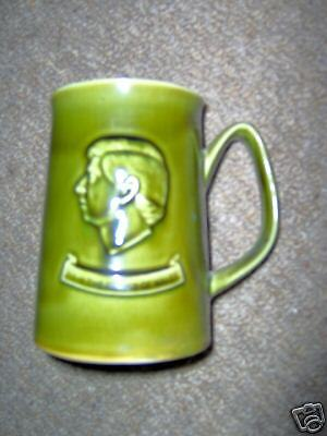 Superb Rare Holkham Pottery 1969 Prince Charles Investiture Green Tankard