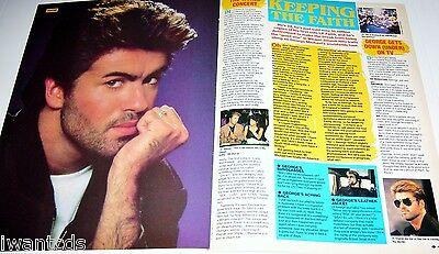 George Micheal Faith White Lion Pin Ups Clippings 80's
