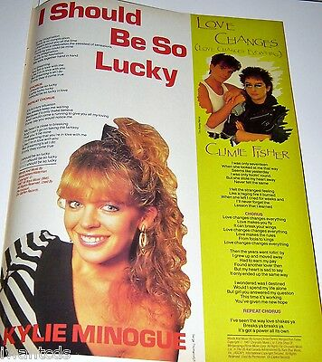 Kylie Minogue I Should Be So Lucky Debbie Gibson Climie Pin Up Clippings 80's