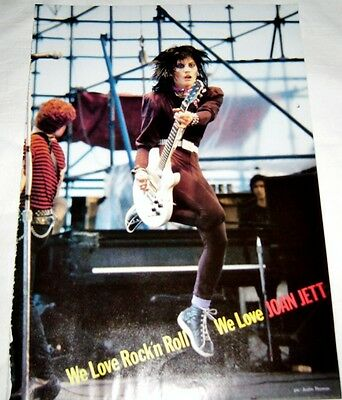 Joan Jett Ozzy Sharon Osbourne wedding I Love Rock and Roll Clipping Pinup 80's