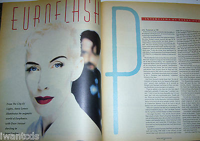 Eurythmics LARGE FULL ARTICLE Ad Annie Lennox David Stewart We Too Are One 80's
