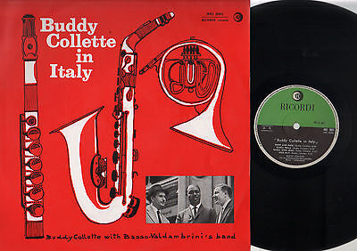Lp Buddy Collette In Italy With Basso & Valdambrini Jazz Band 1961 Ricordi