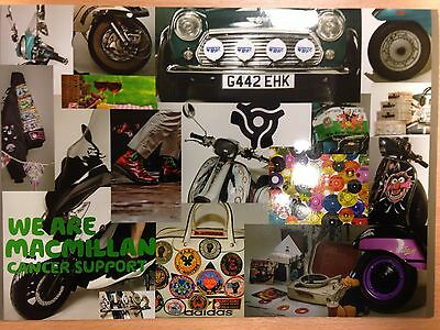 2017 Macmillan cancer support charity Scooter scene/northern soul calendar