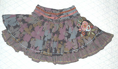 Next girl's skirt * age 3 * Lovely with embroidery and sequins / two layered