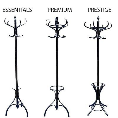 Coat Stand Black Hook Coat/Hat/Jacket/Umbrella Standing Bentwood Hanging Rack