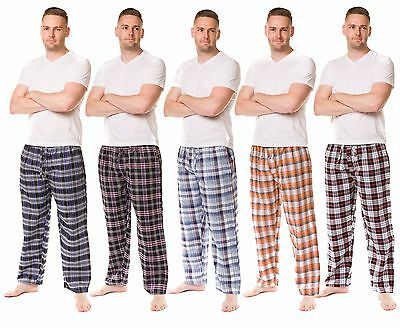 Men's Pyjama Bottoms Rich Cotton Woven Check Lounge Pants Nightwear M to 5XL