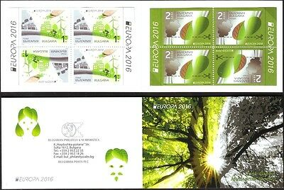 Mint stamps in  booklet  Europa CEPT 2016 from Bulgaria