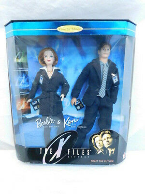 X Files Mulder Scully Barbie & Ken Dolls New In Box Fight The Future