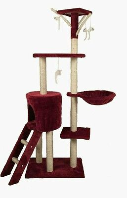 2017 Cat Scratching Post Scratcher Tree Activity Toy Pet Playing Centre Climbing