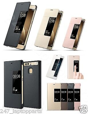 HUAWEI P9 Plus Leather Smart Flip Window View AutoSleep Case Cover Stand New