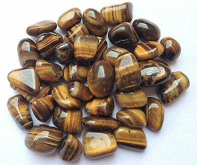 Six Excellent Crystal Tigers Eye Tumbled Stones Gift Power Reiki Feng Shui