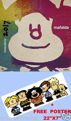 Calendario De Pared Mafalda 2017 - Spanish Español Quino Wall Calendar Comic New