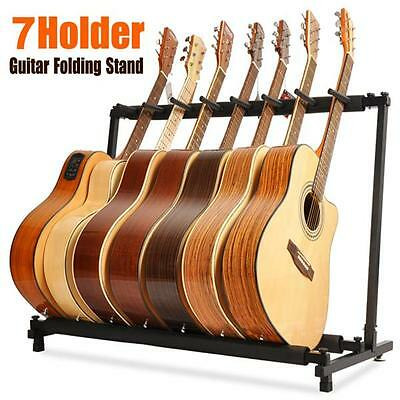 7 Way Multi Folding Guitar Rack Stand by Chord For Electric Bass Acoustic UK NEW