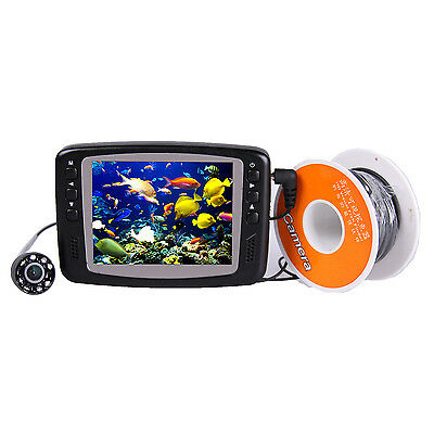 30m 3.5 Inch HD Monitor Ice Fish Finder Underwater Fishing Camera with Battery