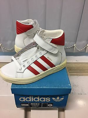 Vintage Adidas Nicky Kids. Made In Taiwan 1980's. Size 31