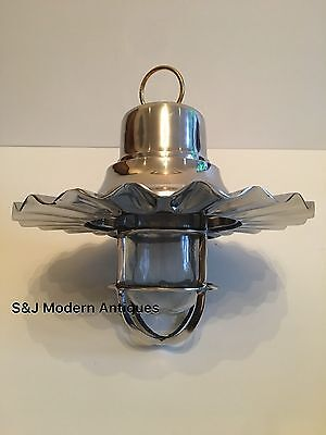 Hanging Pendant Industrial Light Cage Ceiling Lamps Aluminium Nautical Lantern