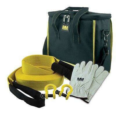 4WD Recovery Kit 5 Piece, 11t Snatch Strap, 2 x 3.5t Bow Shackles, Bag & Gloves