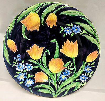 """Maling Ware """"Tulips"""" Large Charger"""