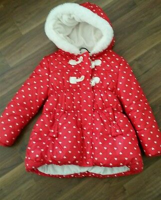 Red polka dots girls jacket age 5-6 from George