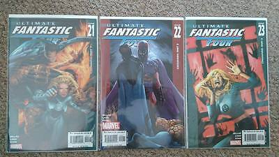 Ultimate Fantastic Four #21 #22 #23 COMPLETE RUN Set 1st Ever App MARVEL ZOMBIES