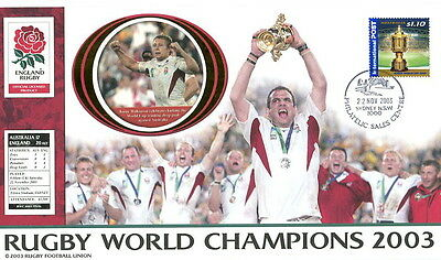 2003 Rugby World Cup Champions cover England v Australia, Sydney SHS