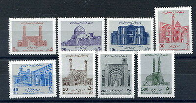Persia 1987 Mosques issue, eight unmounted mint values including 200r. and 500r