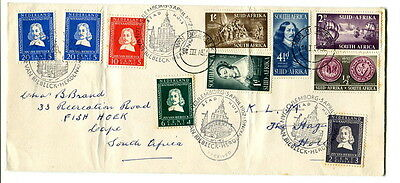 South Africa / Holland 1952 Van Riebeck joint issue cover SA to Holland & return