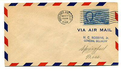 USA 1948 5c. Air Mail cover White River Junction  to Springfield