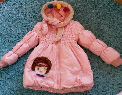 Baby pink girl soft jacket age 4-5
