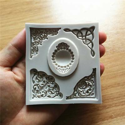 Baroque Sculpture Jewellery Fondant Mould Cake Decorating Sugarcraft Mold Tool