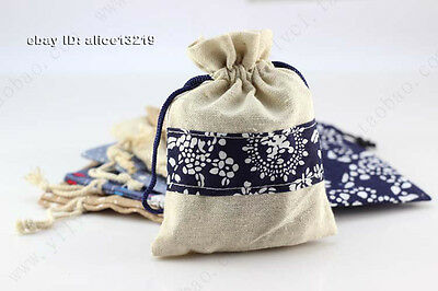 Chinese Ethnic style gift blue and white jewelry bag  1P
