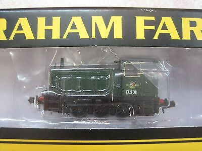 N Gauge Graham Farish Class 03 Shunter BR green with late crest - MINT