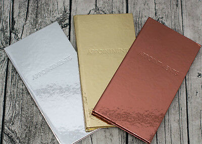 Quirepale Shiny 3 Column Appointment Book - Hairdressers, Beauticians, Nails etc