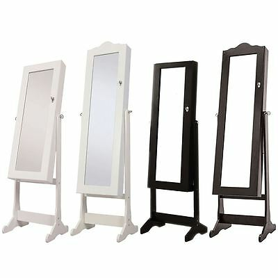 Nishano Jewellery Cabinet Cheval Cabinet Mirror Large/Extra Large Black/White