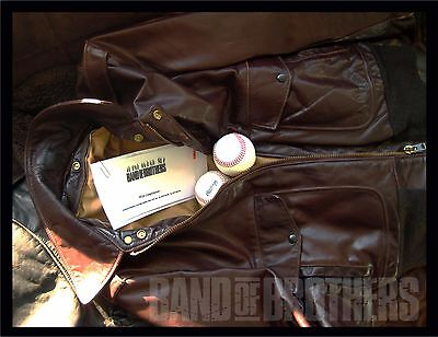 Vintage Leather Schott A-2 Jacket From The Tv Film Set Band Of Brothers