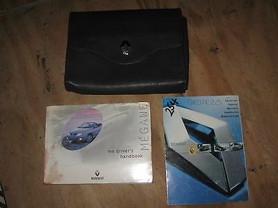 Renault Megane Handbook Pack Owners Book Leather Wallet 1